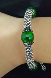 Wholesale green new jade beads - Wholesale cheap New Tibet silver multicolor jade turquoise bead bracelet