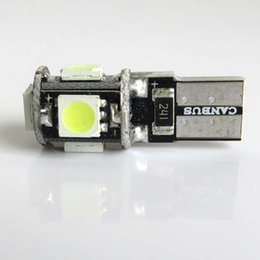 Wholesale Audi Licenses - T10 5 smd 5050 led Canbus Error Free 360 Degree Car Lights 501 W5W 194 5SMD Auto Lights Bulb NO OBC ERROR Sidelight