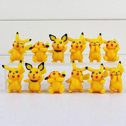 Wholesale Pokemon Gift Set - Poke Pikachu Q Version Mini Figure Toys PVC Doll Collective Toys Best Gifts For Children 12pcs set 3.5-5cm Free Shipping