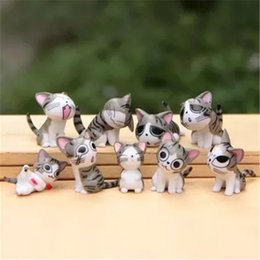 Wholesale Good Cat Toys - LilyToyFirm Multi Color Micro Cute Kitty Mini Chis Chi Sweet Home Figures Dolls Cat Kitten Emoji Decoration Model Toys Action Figure Doll