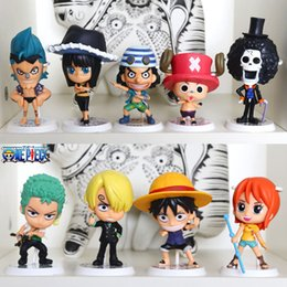 Wholesale Nami One Piece New Age - J.G Chen! 2015New 9Pcs Set Free Shipping One Piece Anime Luffy Zoro Nami Sanji Brook PVC Action Figure the New World Toy