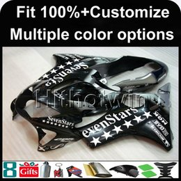 Wholesale Honda Star Fairing - 23colors+8Gifts Injection mold SEVEN STAR motorcycle cowl for HONDA CBR600F4 1999-2000 F4 99 00 ABS Plastic Fairing