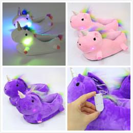 LED Light Up Glow Slippers Femmes Chaud Mignon Doux En Peluche Pantoufles Fantaisie Ménage Hiver Pantoufle ? partir de fabricateur