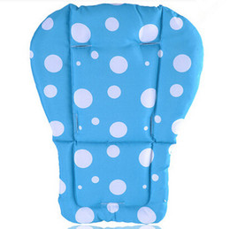 Wholesale Lovely Pink Cushions - Kids Stroller Cushion Cover Mat,Lovely Pushchair Pram Pad for Dining Chair,Blue,Pink,Purple,Green,Seat Pad Thick Mat for Sale