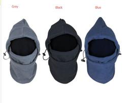 Cappelli resistenti all'inverno online-Cappelli Cosplay Maschera termica Pile Passamontagna in pile Cappuccio Swat Bike Wind Inverno Berretto stopper antivento e antiscivolo