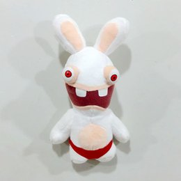 Wholesale Rayman Rabbids Toys - Free Shipping 22cm=8.7'' Rayman Raving Rabbids plush toy doll crazy rabbit cute stuffed toy for children Christmas gift