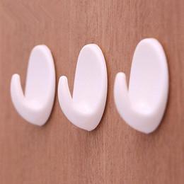 Wholesale Plastic Hook Adhesive - 5pcs Self Adhesive Clothes Hook Wall Door Holder Bathroom Towel Hanger Kitchen Bath Wall Hanger Hooks