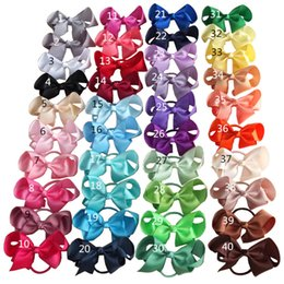 Wholesale Hair Ponytail Bobbles - 4 Inch Hair Bow with Color Elastic Bands Ponytail Hair Holder Bows Hair Accessories Elastic Loop Bobble School Fashion Headwear