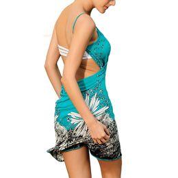 Wholesale Swimwear Mini - S5Q Women Summer V-neck Swimwear Bikini Cover Up Sarong Sexy Wrap Beach Dress AAAEMT