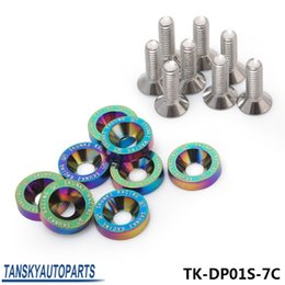 Wholesale Car Bolts - SK2 New Style 8PC Neochrom M6 x 20MM Engine Bay Fender Washer Bolt Dress Up Kit For Honda Car Truck Suv TK-DP01S-7C