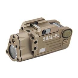 linterna sf Rebajas Tactical CNC Making SBAL-PL Luz blanca LED Luz de pistola con láser rojo Pistola / Rifle Linterna Tierra oscura