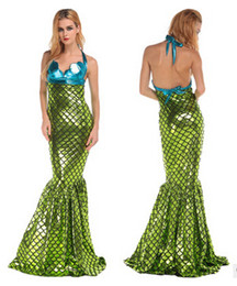 Wholesale Mermaid Adult Halloween Costume - wholesales Mermaid Costume for Women Sexy Adult Halloween Fancy Dress