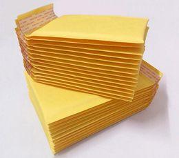 Canada 110 * 130mm Bubble Mailers Enveloppes Rembourrées Emballage Sacs D'expédition Kraft Bubble Mailing Enveloppe Sacs G1168 cheap mailer bags padding Offre