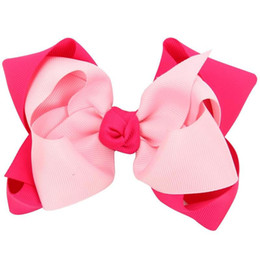 Wholesale Wholesale Girls Hair Bubbles - American Independence Day National Day children to double bubble Bow Headband girl girl with hair headdress
