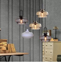 Wholesale Deco Art Glass Stain - Retro Stained Glass Pendant Lamps Edison Single Head Chandelier Hot Pot Restaurants Bar Restaurant Hotel Cafe Living Room Pendant Light