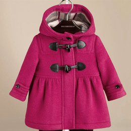 Wholesale Babies Cashmere Coats - Casual Cashmere Baby Girls Winter Coat Children Outwear Woolen Kids Clothes For 2-7 Years Kids 5p l