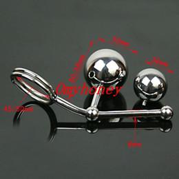 brinquedo de varinha de cristal Desconto 2015 novo luxo de aço inoxidável brinquedos anal com duas bolas, butt plug anal brinquedos do sexo, produtos sm, cinto de dispositivo de castidade, M020