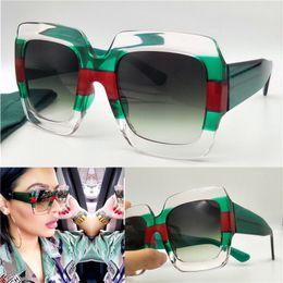 Lunettes femme titane en Ligne-Nouveau mode designer femmes lunettes de soleil 0178 carré multi-couleur cadre de haute qualité uv400 lentille protection lunettes avec boîte d'origine