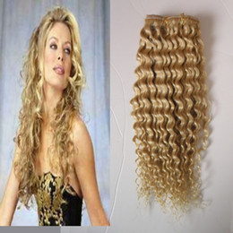 curly afro blonde human hair Coupons - #613 Bleach blonde Afro Kinky Curly Clip In Hair 100g 7pcs Lot 4A 4b 4cafrican american clip in human hair extensions