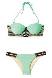 Wholesale Women S Diving Suits - New Top and bottom Bikini Set lady Swimwear high neck lady women Diving Suit brazilian design swimwear bath suit women bandage beach set