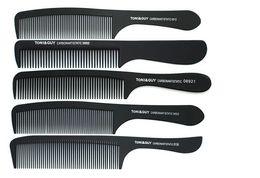 Wholesale Comb Hair Carbon - 12pcs each style hot sale black TONY & GUY hairdressing Haircut Hair comb Carbon flux comb Flat hair Slim comb 12 PCS each style drop ship