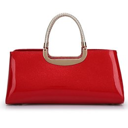 Wholesale New Korean Womens - Korean Style Elegant Handbags Fashion Patent Leather Bags New Style Womens' Evening Bags Hot Sale Ladies' Totes Wedding Bags