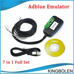 Wholesale Adblue Emulator Volvo - New Adblue Emulator 7 in 1 with Programing Adapter works for Mercedes-Benz, MAN, Scania, Iveco, DAF, Volvo and Renault realease speed tool