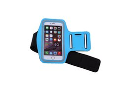 Wholesale Iphone Case Jogging - Sports Running Jogging Gym Armband Arm Band Case Cover Phone Holder Workout Gym Cases Cover For iPhone 6 6S Plus 5 5S