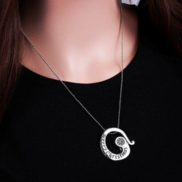 Wholesale Merry Christmas Pendant - Slide Pendant Necklace Merry Christmas Fashion Europe & America Style Creative Personality Necklace 50cm 14g Clothing Decoration Accessories