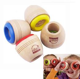 esperimenti automobilistici Sconti Giocattolo di legno sveglio di legno del caleidoscopio di trasporto libero dei nuovi bambini magici effetto dell'occhio magico per il regalo di compleanno dei bambini