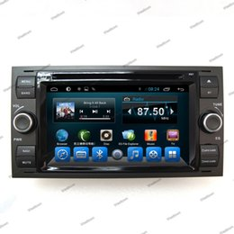 Wholesale Ford Focus Android Radio - Double din car dvd android multimedia player in car sat nav with bluetooth radio audio stereo fit for Ford Old Focus 2007 2008
