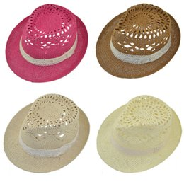 Wholesale Hollow Out Jazz Hat - Wholesale-Hot Marketing Hot!Fashion Womens Girl Lace Hollow-Out Summer Beach Sun Jazz Cap Hat June18
