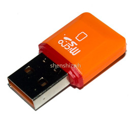 Wholesale Micro Sd 64gb Ship - Free shipping High Speed USB 2.0 TF Flash T-Flash Memory Micro sd card reader adapter for 2gb 4gb 8gb 16gb 32gb 64gb TF Card