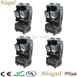 Wholesale Effect Wheels - Wholesale- 4pcs lot 8x12W RGBW 4in1 Rotating led beam moving head light two wheel rotating DMX512 stage effect light night club dj lighting