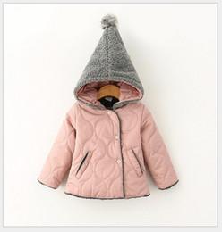 Wholesale cute winter coats sale - Baby Girls Thicken Coats Outwear 2015 New Hot Sale Children Autumn Winter Wizard Magic Hat Coat Kids Clothing Cute Girl Clothes 5pcs lot