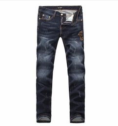 Wholesale Hole Jeans For Men - 2018New arrival famous luxury italian Brand slim fit summer DSQ fashion patchwork denim ripped biker ripped skinny jeans hole for men G560