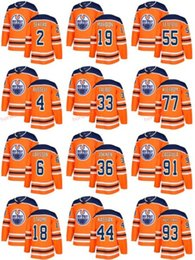 Wholesale Drake L - 2018 New Edmonton Oilers 44 Zack Kassian Ice Jerseys Custom 55 Mark Letestu 18 Ryan Strome 36 Jussi Jokinen 4 Kris Russell 91 Drake Caggiula