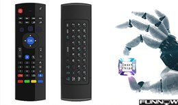 Wholesale Universal Remote Control Support - Genuine X8 Keyboard Air Mouse Mini Wireless Universal Remote Control MIC Voice Combo MX3-M For MXQ M8S Amlogic S905 STB Android 5.1 TV BOX