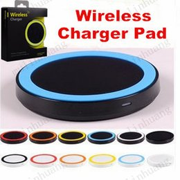 Wholesale galaxy s4 qi charger - S6 Qi Q5 Wireless Charger Cell phone Mini Charge Pad For Qi-abled device Samsung Galaxy S3 S4 S5 S6 Note2 3 4 Nokia HTC LG Iphone phone MQ50