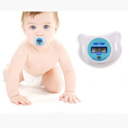 Wholesale Baby Digital Electronic Thermometer - New Pacifier Type Electronic Thermometer Baby Nipple Digital Thermometer Safe Healthy NFS