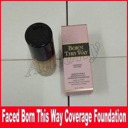 Wholesale Foundation Coverage - Faced Makeup 3 colors BORN THIS WAY Foundation UNDETECTABLE FULL Size COVERAGE FOUNDATION 30ml DHL Free