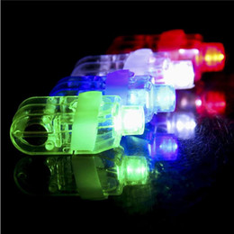 Wholesale Laser Finger Ring - LED Bright Finger beams Ring Lights Rave Party Glow LED fingers toys Finger Ring gifts Lights Glow Laser Finger Beams LED Flashing Ring