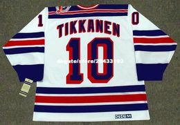 Wholesale 1994 New York Rangers - custom Throwback Mens ESA TIKKANEN New York Rangers 1994 CCM Vintage Home Cheap Retro Hockey Jersey