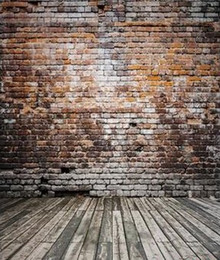 Wholesale Brick Wall Photography Backdrop - Simple No Wrinkle Photography Backdrops 200*150cm(6.5*5ft) Broken Wooden Bricks Wall Background Vinyl Photography Backdrop Photo Studio