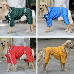 Wholesale Large Dog Raincoats - High quality Large Dog Raincoat Clothes Pet Apparel Big Dogs Waterproof Hoody Jumpsuit Rain Coat Sports Poncho
