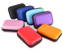 Magazzino quadrato della tasca online-2 Pz / lotto Square Zipper Bag Cavo Auricolare Mini Box SD Card Portamonete Portamonete Borsa per il trasporto Portamonete