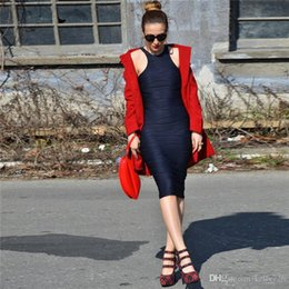 Wholesale Sexy Matures - Slim Pleated Women Bodycon Dresses Mature Sleeveless Crew Neck Pencil Dresses for Women Ladies with Cap Sleeve