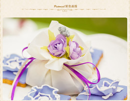 Wholesale Fairy Favor Boxes - 1000PCS European fairy beauty and joyful bag Creative yarn bag wedding candy boxWedding wedding candy box creativity and joyful wedding