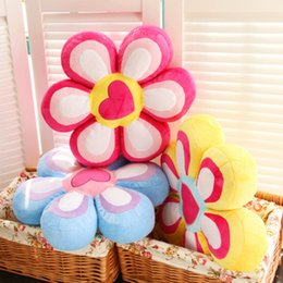 Wholesale Kids Flower Pillow - Wholesale- 2017 New Arrival Cute Sunflower Pillow Flower Shape Cushion Plush Toy Home Decor Baby Toys Kids Christmas Birthday Gift