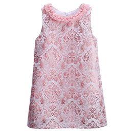 Wholesale Vintage Kids Clothes - Pettigirl 2016 Hot Sellers Pink Girls Spring Vintage Dresses Stylish Baby Jacquard Weave Dresses Retail Kids Clothing GD81024-125Z